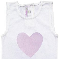 Moon et Miel Heart Patch Babygrow-listing