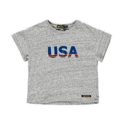 "Finger in the nose T-shirt Cropped ""USA"" -listing"