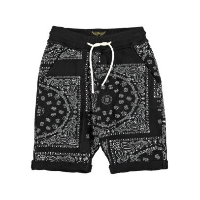 Finger in the nose Grounded Bandana Print Sweat Shorts-listing