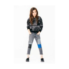 Finger in the nose Turner Bandana Print Sweatshirt-product