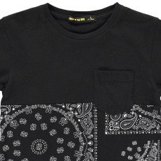 Finger in the nose Dalton Bandana Print T-Shirt-listing