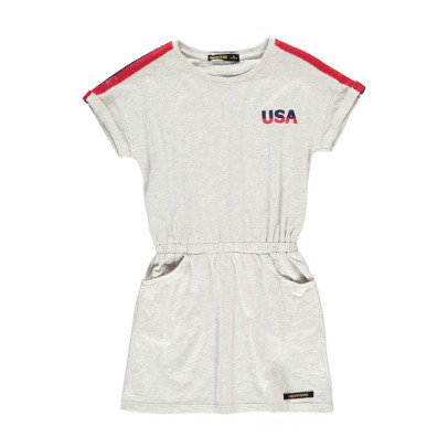 "Finger in the nose School ""USA"" Sweat Dress-listing"