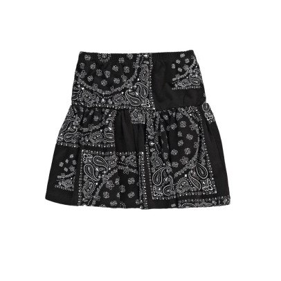 Finger in the nose Sparkle Bandana Print Skirt-listing