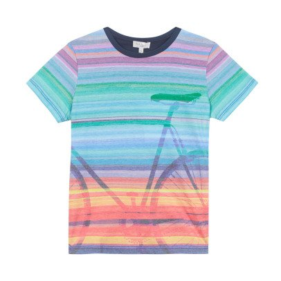 Paul Smith Junior Gestreiftes T-Shirt Fahrrad Norham -listing