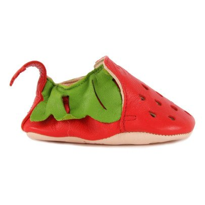 Easy Peasy Strawberry Blumoo Leather Slippers-listing