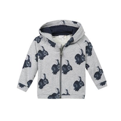 Paul Smith Junior Sweat Zippé Capuche Lapins Nougat-listing