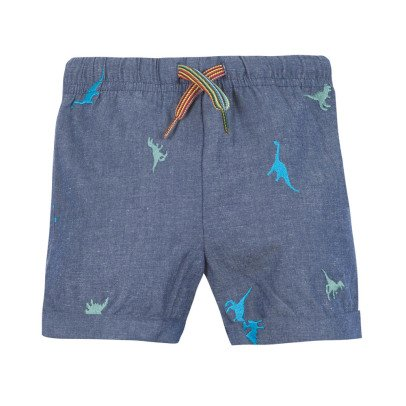 Paul Smith Junior Nemo Dinosaur Chambray Bermuda Shorts-listing