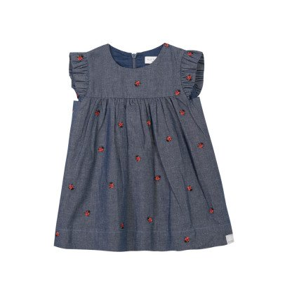 Paul Smith Junior Robe Chambray Coccinelles Natalia-listing