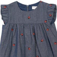 Paul Smith Junior Natalia Ladybird Chambray Dress-listing