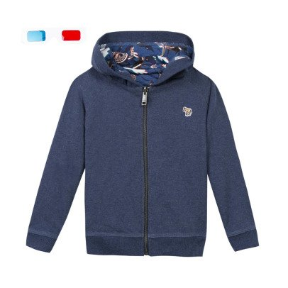 Paul Smith Junior Felpa zip Cappuccio-listing