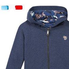 Paul Smith Junior Sweatshirt mit Kapuze-Zweiseitig- 3D Naleb -listing