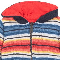 Paul Smith Junior Nimoy Reversible Cardigan with Zip-listing