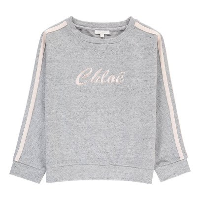 Chloé Embroidered Sweatshirt with Coloured Bands-listing