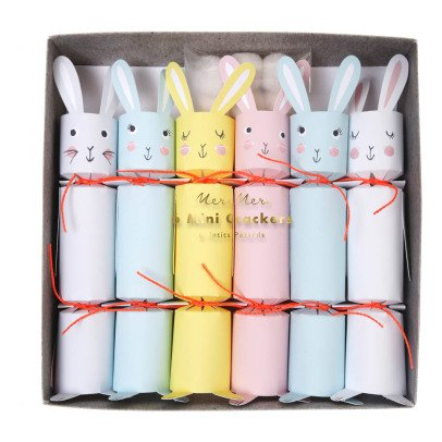 Meri Meri Mini crakers Lapin - Set de 6-listing