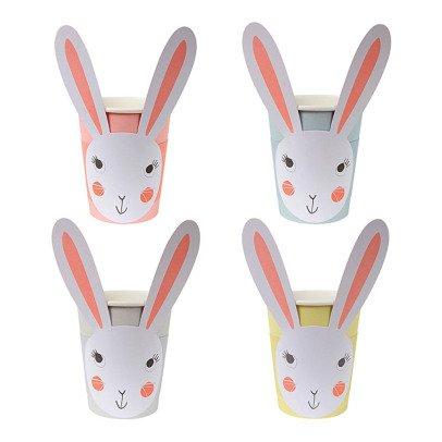 Meri Meri Vasos de cartón Conejo - Set de 12-listing