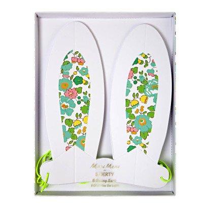 Meri Meri Flower Paper Rabbit Ears - Set of 8-listing