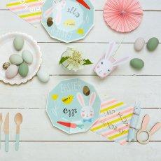 Meri Meri Rabbit Round Serviettes - Set of 8-listing
