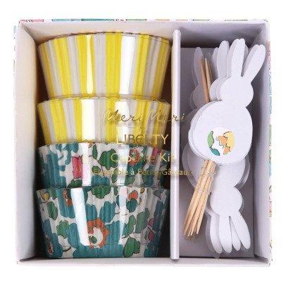 Meri Meri Moules à gâteaux et décorations Liberty spring - Set de 24-listing