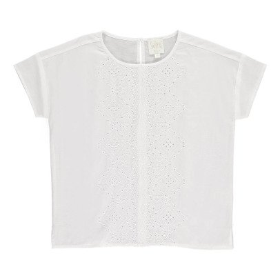 Swildens Teen Qezalo Embroidered Blouse-listing