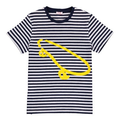 Il Gufo Striped Skate T-Shirt-listing