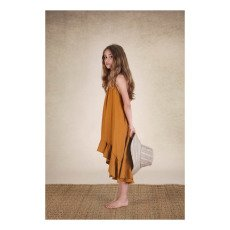 Little Creative Factory Apron Dune Nude Back Long Dress-listing