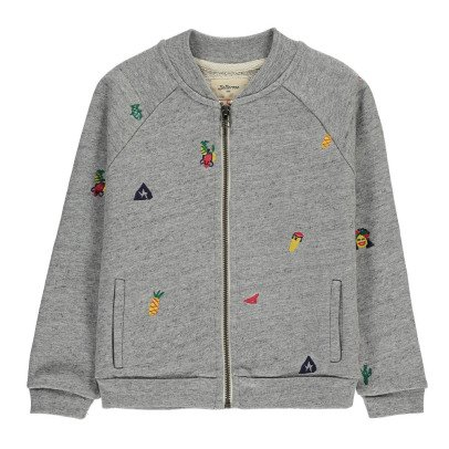 Bellerose Sweat Zippé Broderies Amon-listing