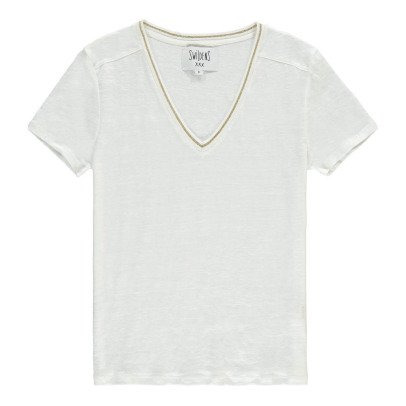 Swildens Qincy Gold Trim Linen T-Shirt-product