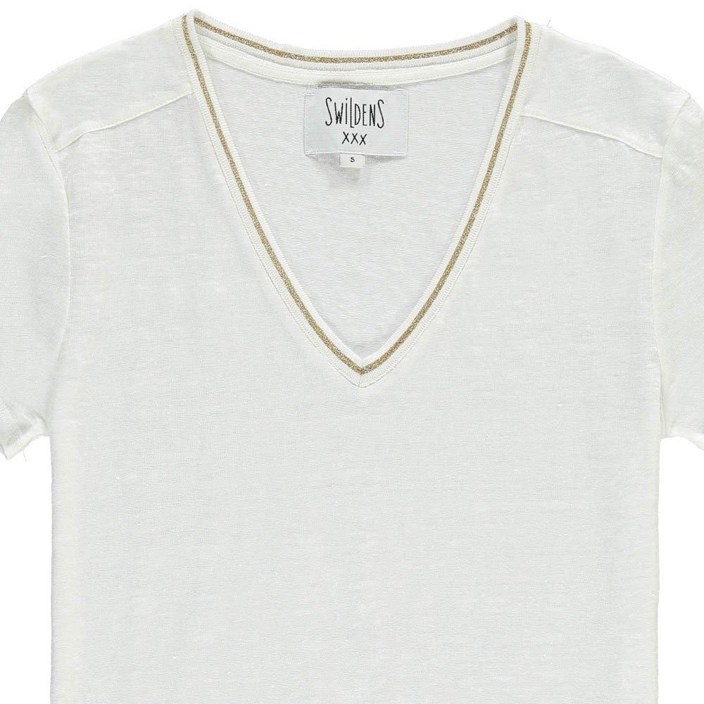 Swildens Qincy Gold Trim Linen T-Shirt-product