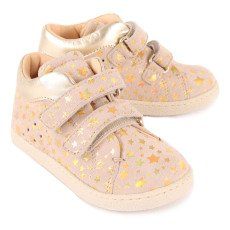 Ocra Star Velcro Leather Trainers-listing