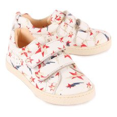 Ocra Lightning Star All Over Velcro Leather Trainers-listing