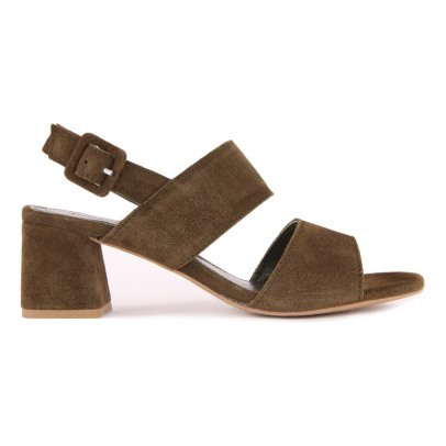 Anonymous Belinda Suede Sandals with Heels-listing