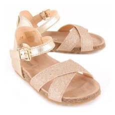 Ocra Glitter Bridle Leather Sandals-listing