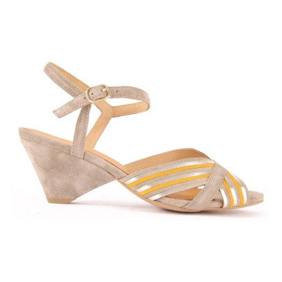 Anonymous Suede Heel Butterfly Sandals-listing