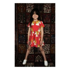 Mini Rodini Organic Cotton Unicorn Skater Dress-product