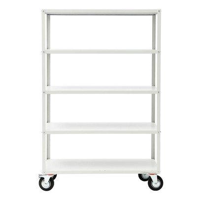 House Doctor Biblioteca de metal con ruedas-listing