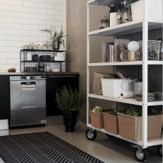 House Doctor Metal Shelf with Wheels-listing