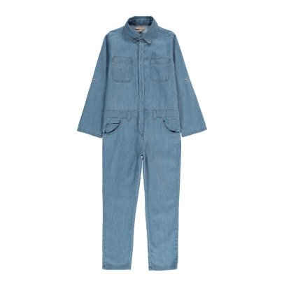 Emile et Ida Chambray Jumpsuit with Buttons-product