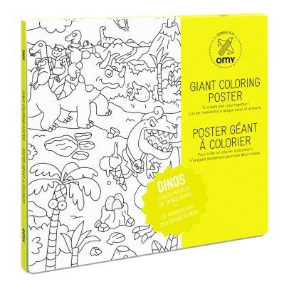 Omy Poster gigante da colorare Dinos-listing