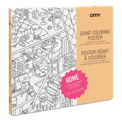 Omy Poster géant à colorier Home-product