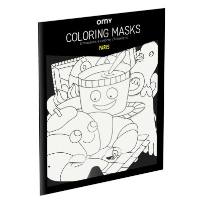 Omy Masques à colorier Paris - Set de 8-product