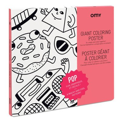 Omy Poster géant à colorier Pop-product