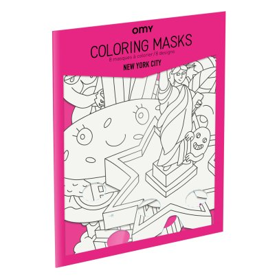 Omy New York City Colouring Mask - Set of 8-product