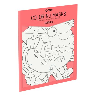 Omy Masques à colorier Fantastic - Set de 8-listing