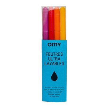 Omy Abwaschbare Filzstifte zum Malen 16 Farben -listing