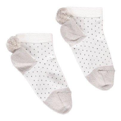 Emile et Ida Pompom Polka Dot Socks-listing