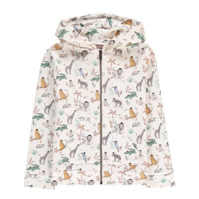 Emile et Ida Animals Hoodie with Zip-listing