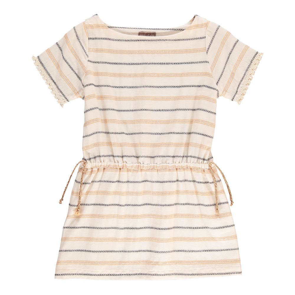 Lurex Bow Striped Dress-product