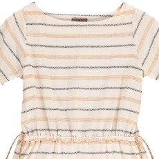Emile et Ida Lurex Bow Striped Dress-product