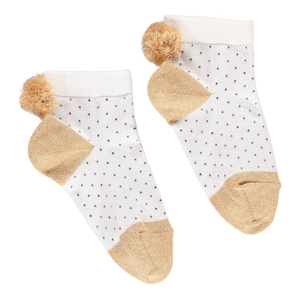 Pompom Polka Dot Socks-product