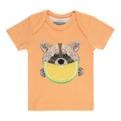 Milk on the Rocks Raccoon Lemon Teddy T-Shirt -listing